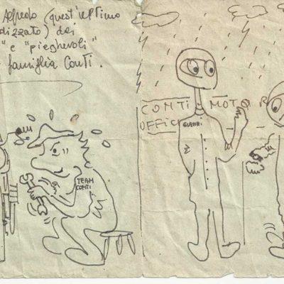 Caricatura fatta da un cliente affezionato
