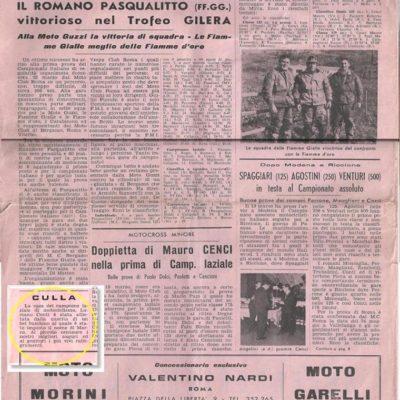 La notizia della mia nascita su Motorismo Romano